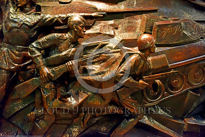 KIEV WWII MUSEUM 0012 Part of a large, impressive, three dimensional, wall, battle scene of Soviet Army troops with a tank in Kiev's World War II museum, picture by Peter J  Mancus tif