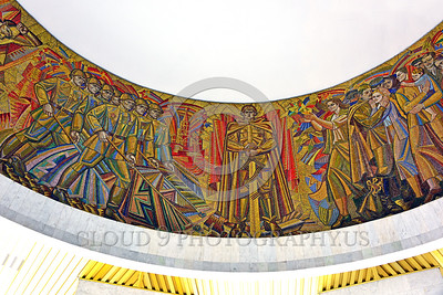 KIEV WWII MUSEUM 0002 Part of a large circular 360 degrees Soviet style mural in a World War II museum in Kiev, Ukraine, picture by Peter J  Mancus