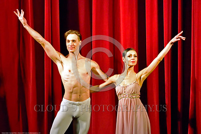 Odessa Ballet 00002  A tight crop of two of Odessa's ballet star performers take their bow after a 30 September 2015 performance, picture by Peter J  Mancus
