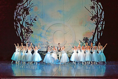 Odessa Ballet 00007 Many ballerinas and one male ballet star in a ballet scene during an Odessa, Ukraine Opra House professional ballet performance in 2015, ballet picture by Peter J  Mancus