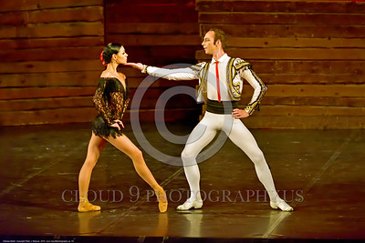 Odessa Ballet 00003 Two of Odessa, Ukraine's Opra House star ballet performers during a performance of Carmen, ballet picture by Peter J  Mancus