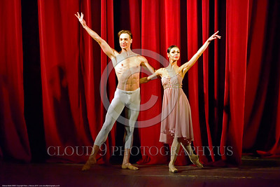 Odessa Ballet 00001 Two of Odessa, Ukraine's Opra House star ballet performers graciously accept their their well earned praise after a 30 September 2015 performance, picture by Peter J  Mancus