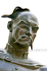 COSSACK 0008 A fine staute portrait close up of a Cossack warrior, statue picture by Peter J  Mancus