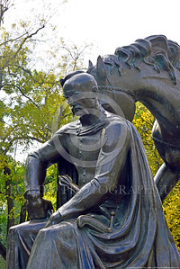 COSSACK 0003 Cossacks became a military class similar to medieval European feudal era knights, statue picture by Peter J  Mancus