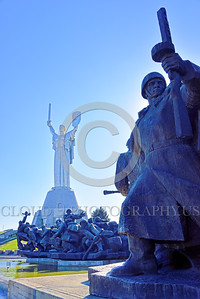 "STY-Motherland 0017 The ""Mother Motherland"" statue in Kiev, Ukraine, with massive Soviet Army World War II era soldier statues below, picture by Peter J  Mancus"