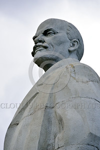STY-VLenin 0011 A surviving Soviet era statue of revolutionary Bolshevik leader and Russian communist party co-founder Vladimir Lenin in Odessa, Ukraine, statutory picture by Peter J  Mancus