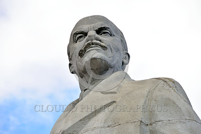 STY-VLenin 0014 A rare, surviving, Soviet era, unpopular in Odessa, Ukraine in 2015, large statue of revolutionary Russian communist party co-founder, dictator, and political-economic theorist, Vladimir Lenin, statutory picture by Peter J  Mancus