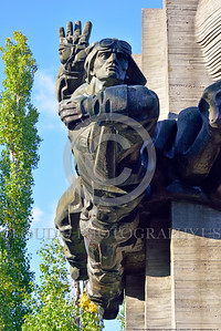 Ukrainian WWII Pilot Statue 0007 One of mulltiple pilots in a large statue dedicated to Ukrainian World War II military pilots, statue picture by Peter J  Mancus