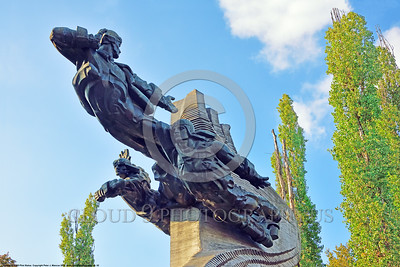Ukrainian WWII Pilot Statue 0002 An overview of an interesting large statue dedicated to Ukrainian World War II military pilots, statue picture by Peter J  Mancus