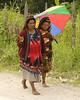 Huli women going to market in their Sunday best