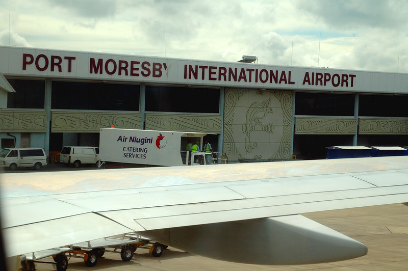 It was a short flight from Cairns to Port Moresby