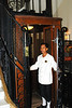 Antique Elevator and Operator at the Hotel Grand d'Angkor