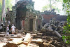 Ta Prohm entrance with Shelly, Carol and new friends