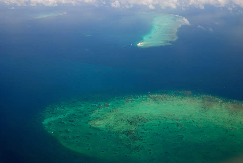 The Grerat Barrier Reef from the air