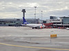 Taxiing to our gate at Arlanda Airport outside of Stockholm