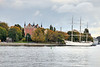 The af Chapman, formerly the Dunboyne (1888–1915) and the G.D. Kennedy (−1923), is a full-rigged steel ship moored on the western shore of the islet Skeppsholmen in central Stockholm,  now serves as a youth hostel.
