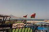 Dhows flying the Flag of Oman
