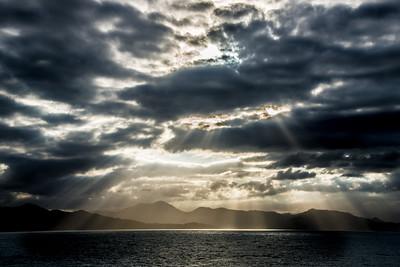 Sunset over Atlantic