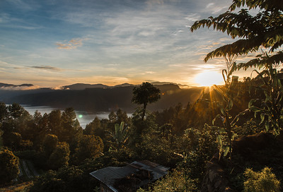 Sunrise over Lake Toba, Sumatra. November 2017.