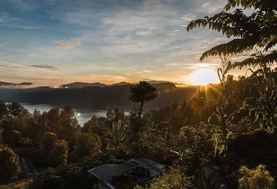 Sunrise over Lake Toba, Sumatra. November 2017.