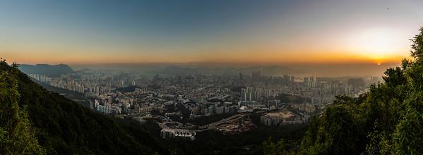 Sunset in Hong Kong. December 2018.