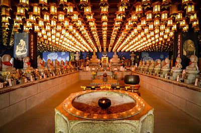 Inside a temple on Miyajima Island, Japan. April 2017.