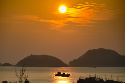 Sunset over Cat Ba Island, Vietnam. December 2016.