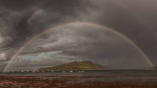 Rainbow over Holy Isle