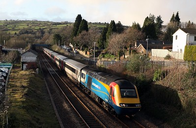 East Midlands Trains 43052 passes South Brent