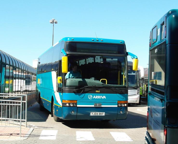 0002 - YJ04BKF - Cardiff (bus station) - 23.7.12