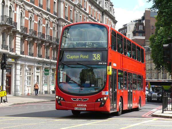Arriva London DW218 110722 London