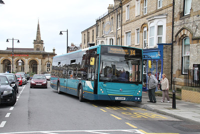 4702 is an Arriva Temsa Avenue, seen here in Saltburn