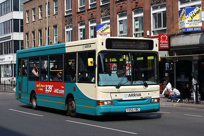 2253-Y253 YBC at Leicester Town Centre.