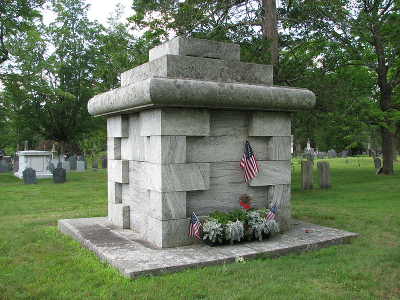 The family monument, located just inside the gate on the left
