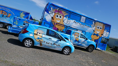 Micro Bluebell, Baby Bluebell and Bluebell Bus all together!
