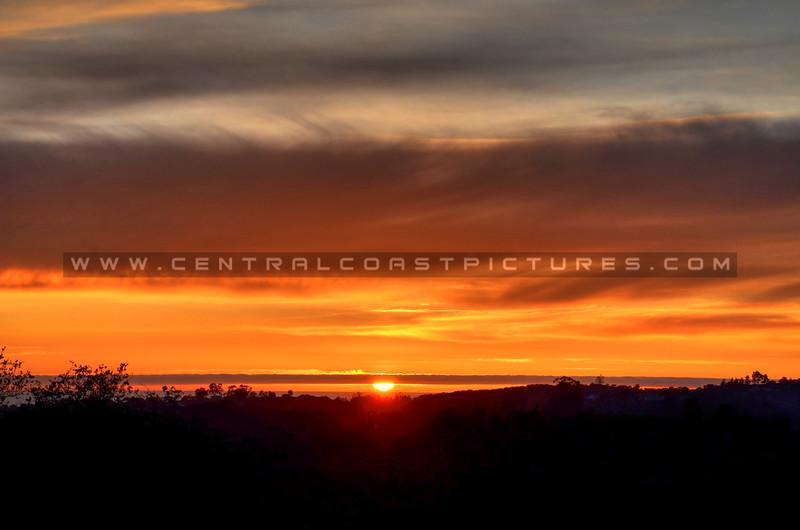 Sunset from Carpenter Canyon, Arroyo Grande
