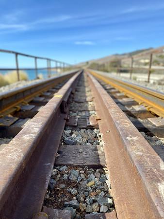 Low angle rail