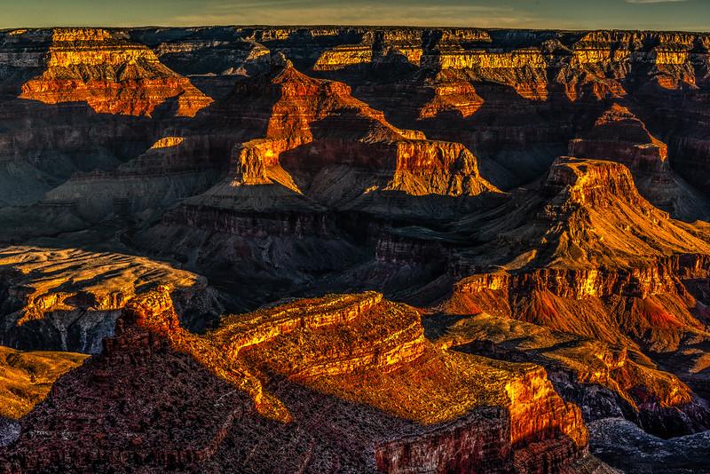 Yavapai Point at Sunrise, Grand Canyon