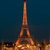 Eiffel Tower at Night during Light Show
