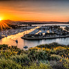 Sunrise at Dana Point Harbor, CA