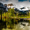 Upper Falls from Swinging Bridge, Yosemite