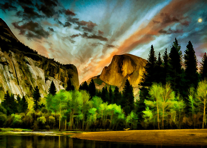 Sundown at Half Dome, Yosemite