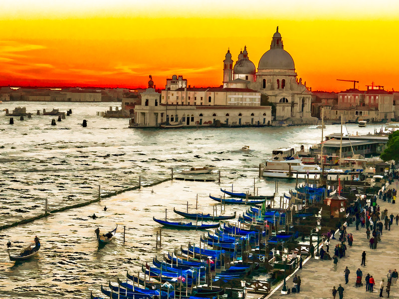 Santa Maria della Salute from the Hotel Danieli, (painting)