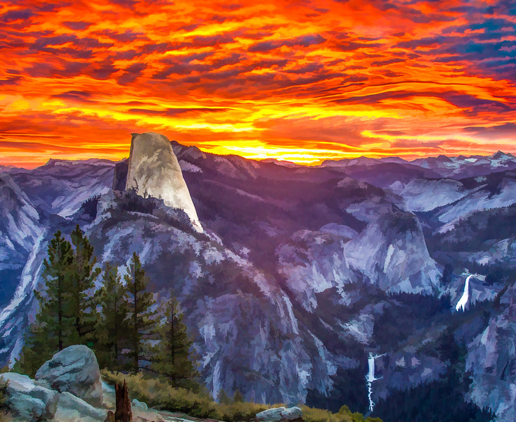 Sunrise at Glacier Point, Yosemite