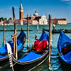 Gondolas and  the Church of San Giorgio Maggiore, Venice