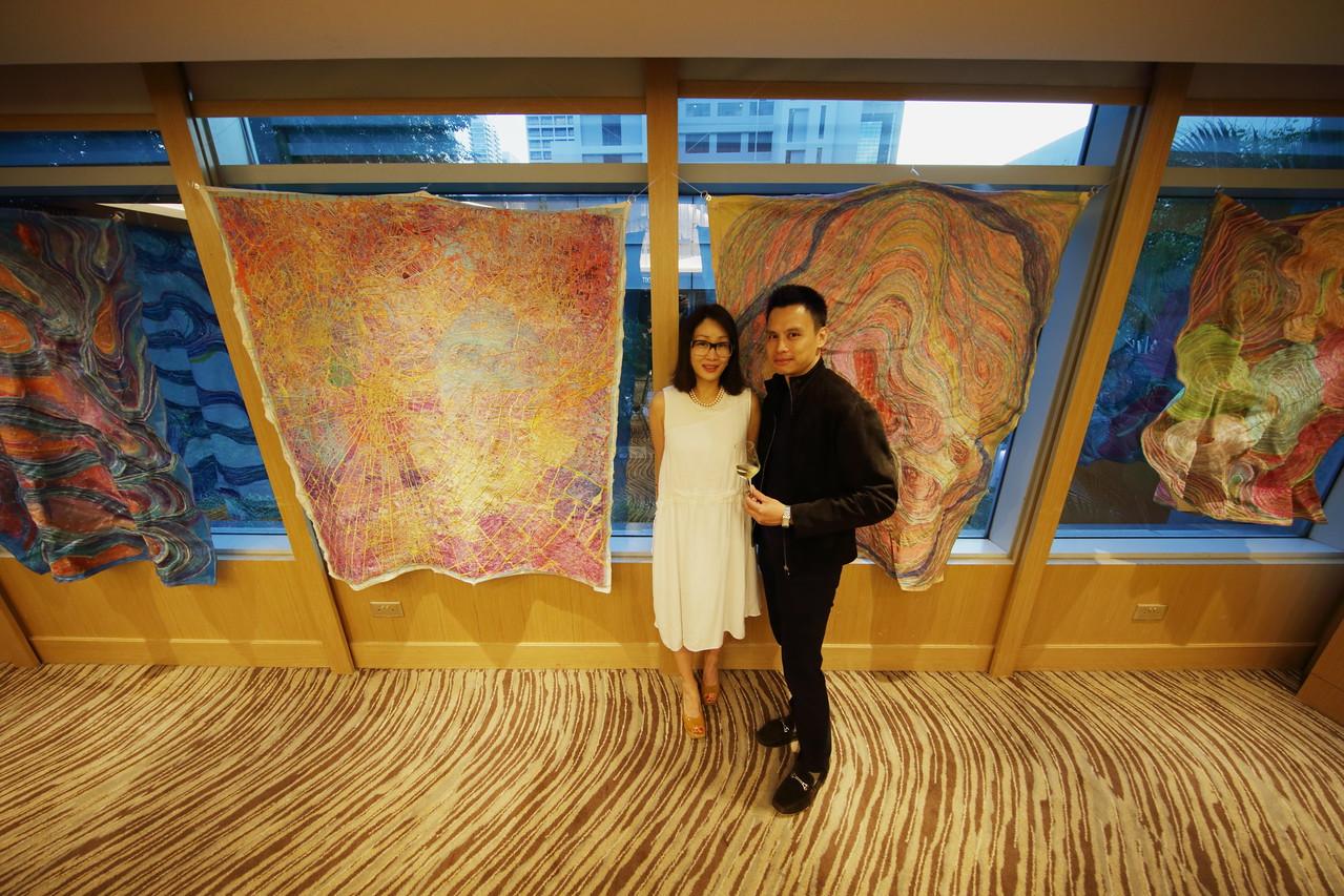 Artists Sunny Chyun and Steven Loh