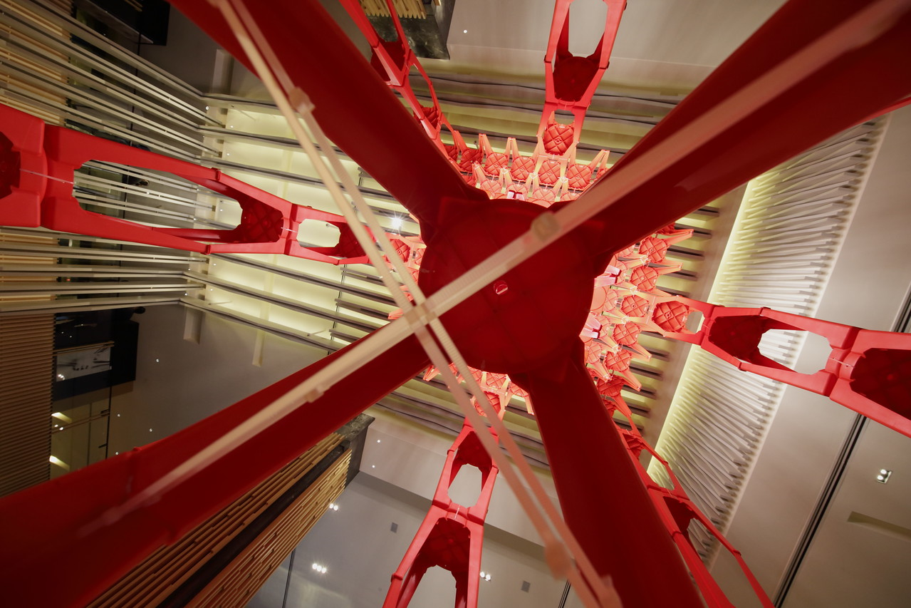 Ode to the Stool, an architectural installation of chairs by Fong Hoo Cheong, HCF and Associates