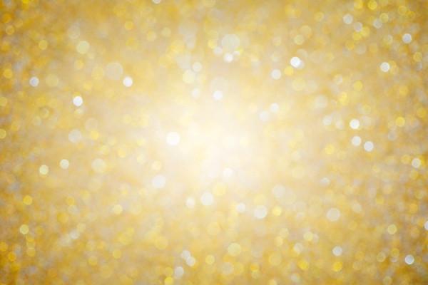 Shiny gold bokeh texture background