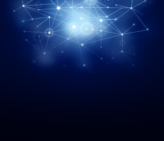 Abstract network dark blue and black background with copy space