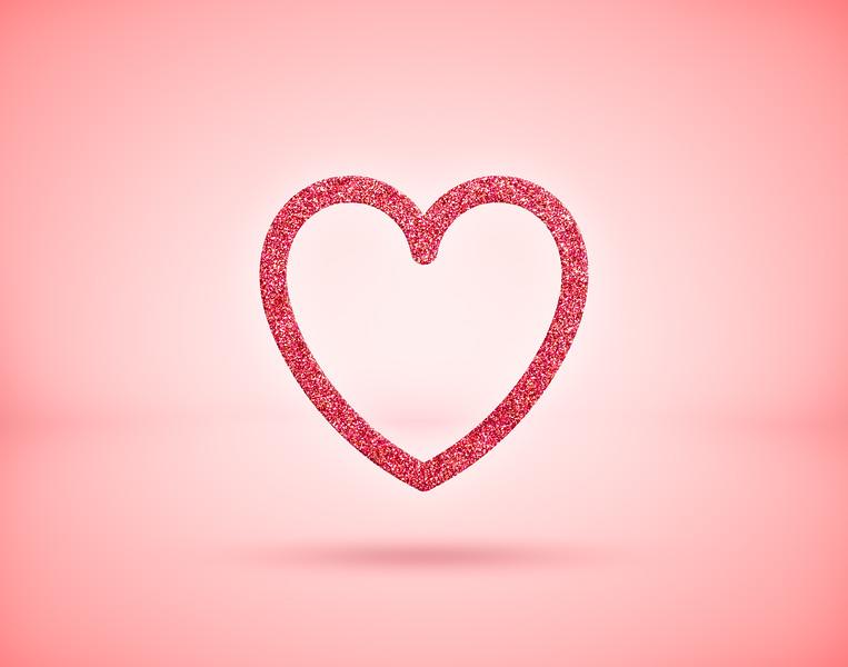 Sparkling red glitter heart